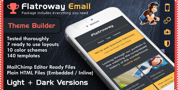 Responsive Email Template FlatroWay - Metro & Flat - Newsletters Email Templates