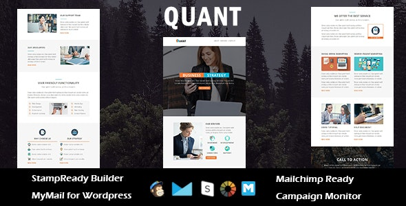 Quant - Multipurpose Responsive Email Template with Stampready Builder Access - Email Templates Marketing