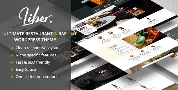 Liber - Ultimate Restaurant & Bar WordPress Theme - Restaurants & Cafes Entertainment