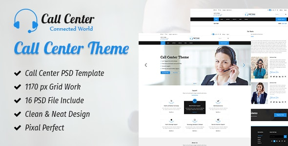 CallCenter - Photoshop UI Templates