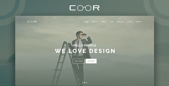 Coor - Creative One Page PSD Template. - Corporate Photoshop
