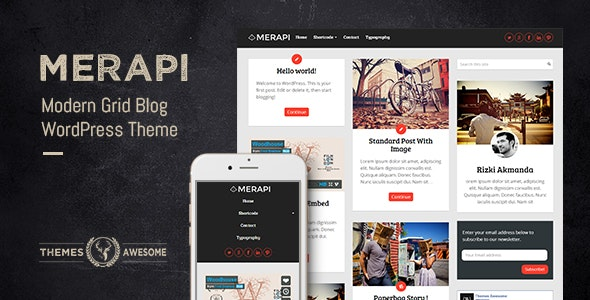 Merapi - Modern Grid Blog Theme - Personal Blog / Magazine