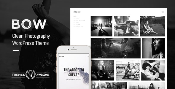 Bow - Clean Photography Portfolio Theme - Photography Creative