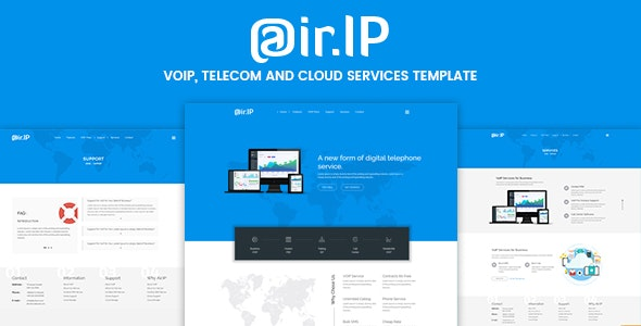Airip - Voip Business HTML Template - Business Corporate