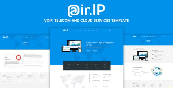 Airip - Voip Business HTML Template