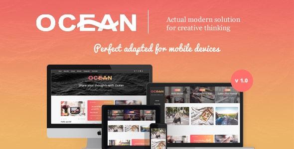 Ocean - Modern WordPress Theme for Bloggers - Personal Blog / Magazine
