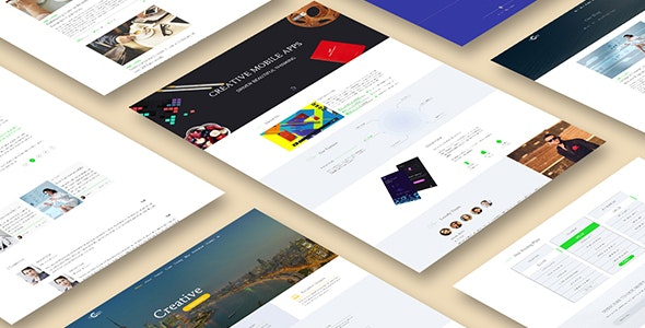 Creative Apps- Mobile Apps PSD Template - Creative Photoshop