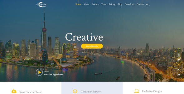 Creative Apps- Mobile Apps PSD Template