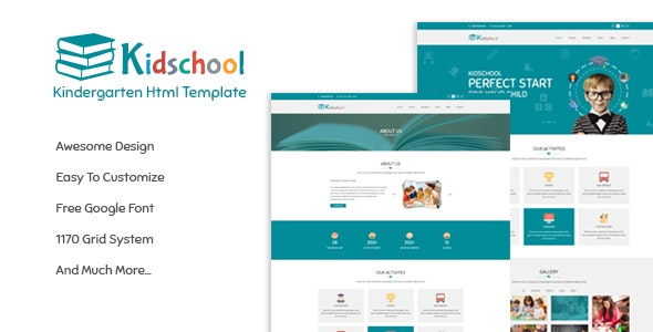 Kidschool - Education HTML Template - Children Retail