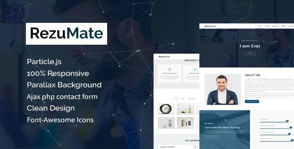 RezuMate - Personal Portfolio Template - Personal Site Templates