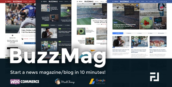 BuzzMag - Viral News WordPress Magazine/Blog Theme - News / Editorial Blog / Magazine