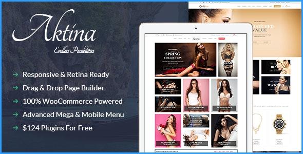 Aktina - Responsive Multi-Purpose WordPress Theme