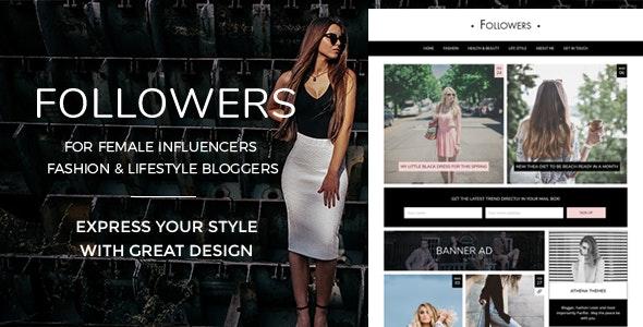 Followers - Fashion & Lifestyle WordPress Blog Theme for Social Media Influencers - Personal Blog / Magazine
