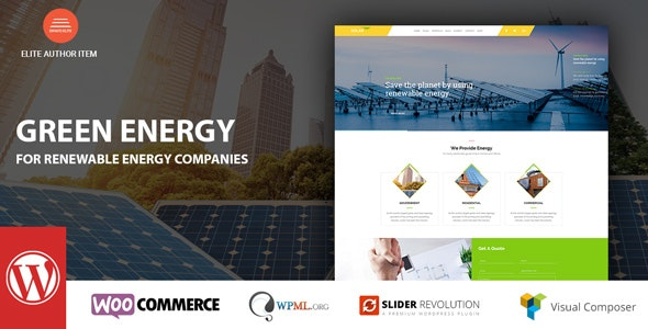 Green Energy - For Renewable Company WordPress Theme - Business Corporate