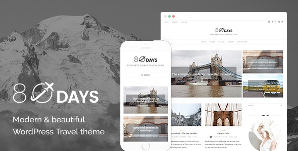 EightyDays - A WordPress Travel Theme For Travel Blogs - Blog / Magazine WordPress