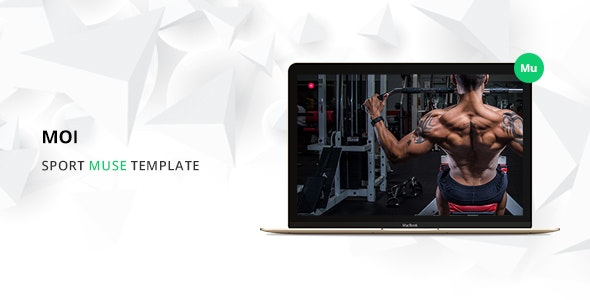 Moi Sport Muse Template - Corporate Muse Templates