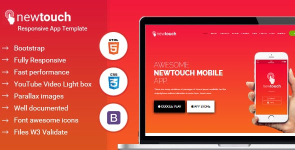 Newtouch Responsive App Template
