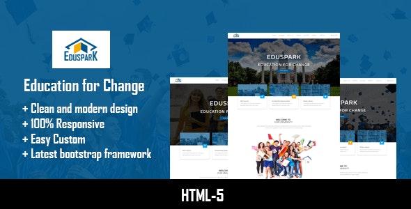 Eduspark | Modern HTML-5 Template - Site Templates