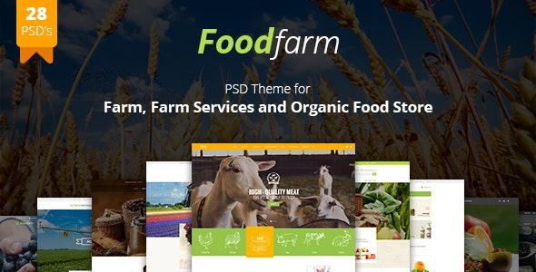 FoodFarm - Multipurpose PSD Template - Food Retail