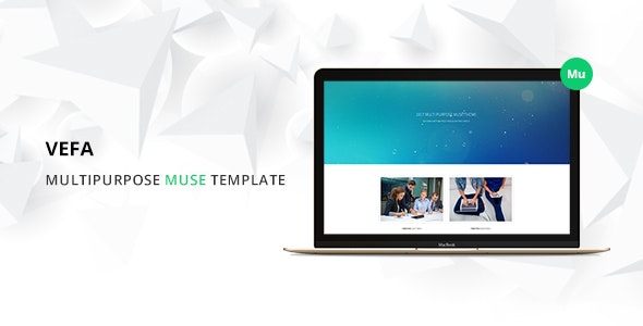 Vefa Multipurpose Muse Template - Creative Muse Templates