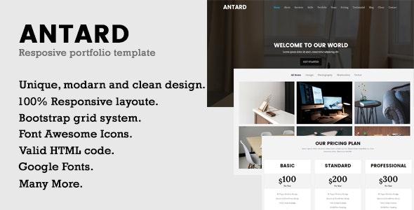 Antard | Responsive Portfolio HTML Template - Portfolio Creative
