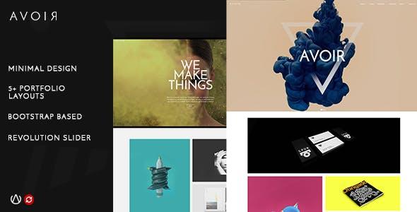 AVOIR | Creative Portfolio Bootstrap Template
