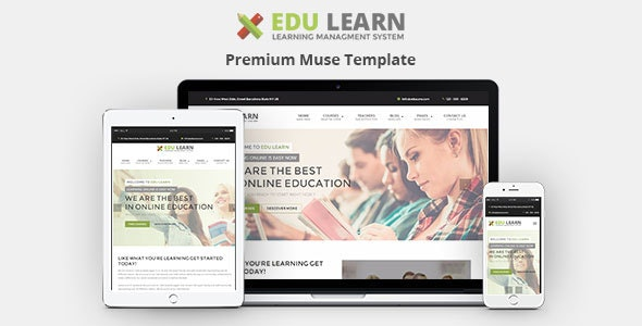 EduLearn - Education, School & Courses Muse Template - Corporate Muse Templates