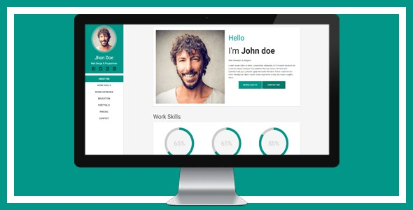 Material CV Template - Resume / CV Specialty Pages