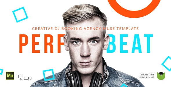 PerfectBeat - DJ Booking Agency Muse Template - Creative Muse Templates