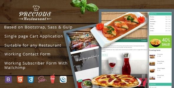 Precious Restaurant Template - Food Retail