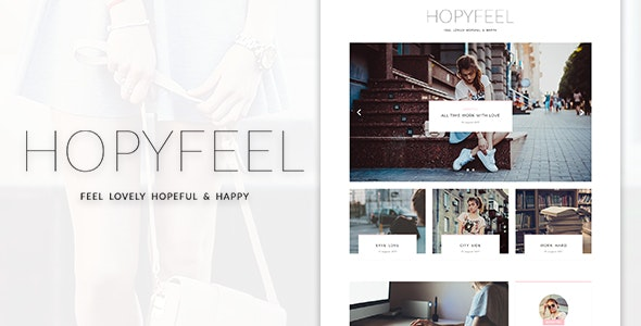 Hopyfeel - Personal Blog HTML Template - Personal Site Templates
