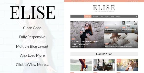 Elise - Wonderful WordPress Blog and Magazine - News / Editorial Blog / Magazine