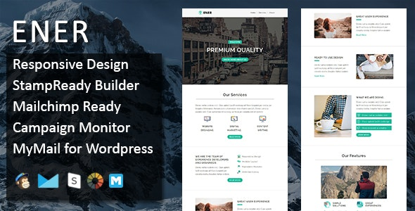 Ener - Multipurpose Responsive Email Template - Stamp Ready Builder Access - Email Templates Marketing