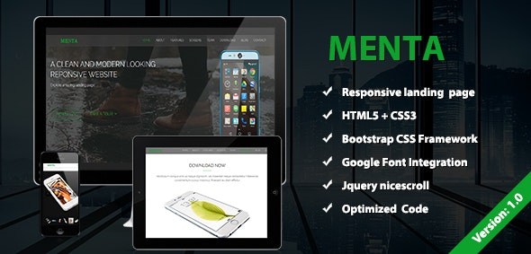 Menta Clean and Modern  Responsive Website - Marketing Corporate