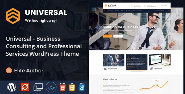 Universal - Business Consulting and Professional Services WordPress Theme - Business Corporate