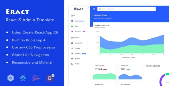 Eract - ReactJS Bootstrap 4 Admin Template - Admin Templates Site Templates