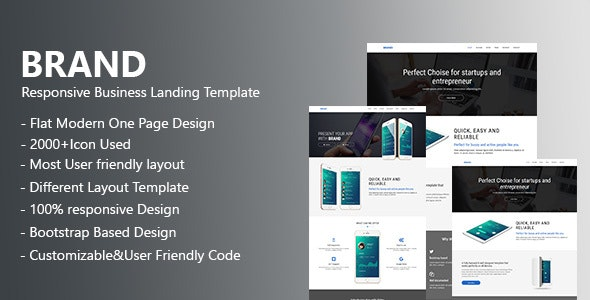 Brand - App landing Page - Business Corporate