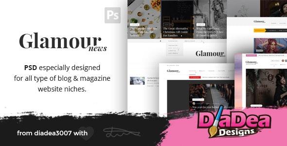 Glamour News - Magazine PSD Template - Creative Photoshop