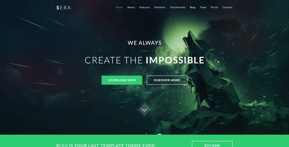 Sera - OnePage Multi-Purpose WordPress Theme