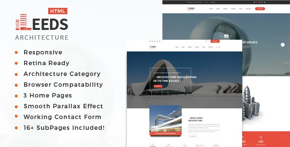 Leeds- Architecture, Interior and Renovation Template - Business Corporate