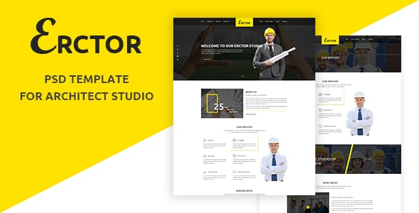 Erctor - Architect PSD Template - Business Corporate