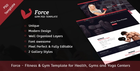 Force - Fitness & Gym Template for Health, Gyms and Yoga Centers - Health & Beauty Retail