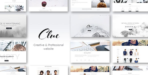 Clue - Creative Multiuse HTML Template - Creative Site Templates