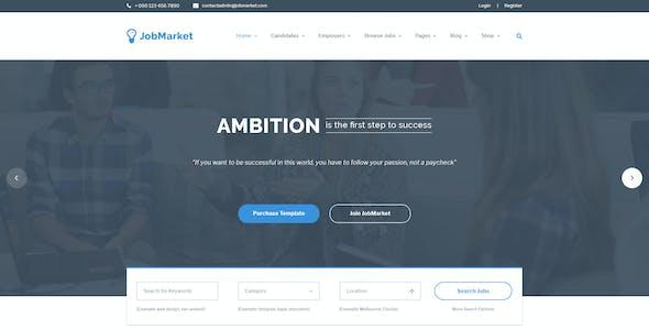 JobMarket - Job Portal PSD Template (Multipurpose)
