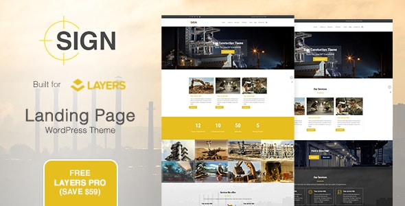 Sign - Factory | Industrial | Construction Responsive Layers WordPress Theme - Business Corporate