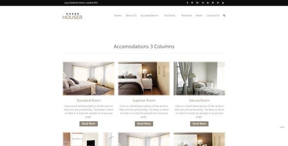 Houser | Hotel and Resort Layers WordPress Theme