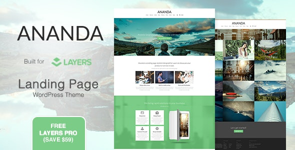 Ananda - Landing Page WordPress Theme - Marketing Corporate