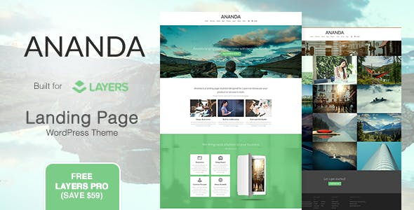 Ananda - Landing Page WordPress Theme