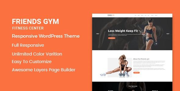 Friend Gym - Gym & Fitness WordPress Theme - Health & Beauty Retail