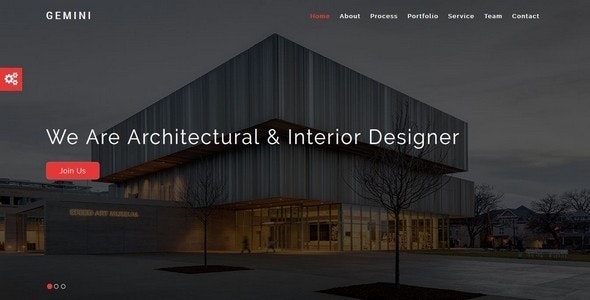 GEMINI-Interior and Architecture HTML5 Template - Creative Site Templates